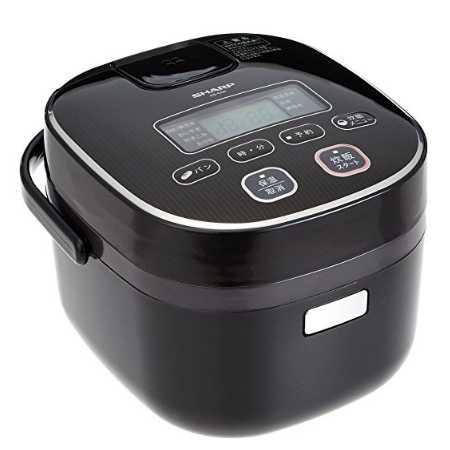 シャープ 炊飯器 3合 黒厚釜 球面炊き KS-C5K