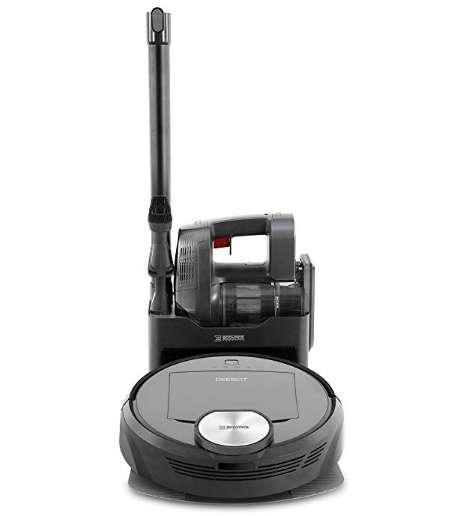 エコバックス ハンディ掃除機&ゴミ自動回収機能 ロボット掃除機 DEEBOT R98