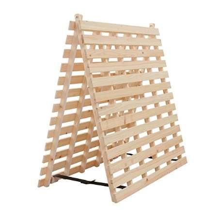 アイリスプラザ すのこベッド 檜 二つ折り 通気性 シングル 天然木