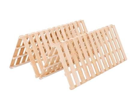 モダンデコ すのこベッド 折りたたみ式 ダブル 桐