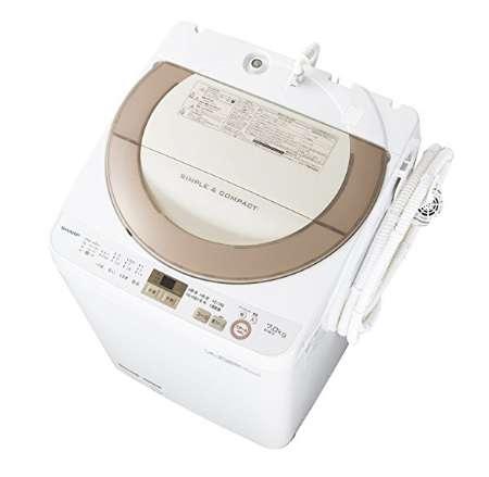 シャープ 全自動洗濯機 穴なし槽 7.0kg ES-GE7A