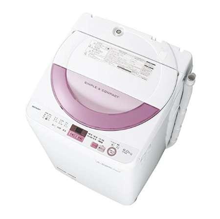 シャープ 全自動洗濯機 穴なし槽 6kg ES-GE6A