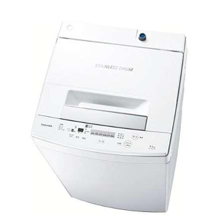 東芝 全自動洗濯機 4.5kg AW-45M5