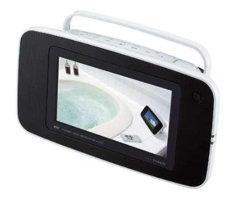 ツインバード 7V型ポータブル防水DVDプレーヤー DVD ZABADY VD-J715B