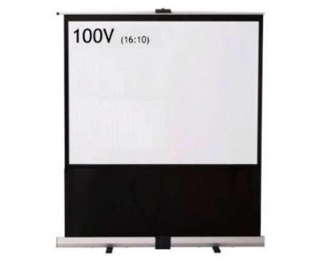 IZUMI パンタグラフ式フロアタイプモバイルスクリーン 100型ワイド RS-100V