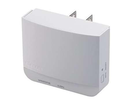 エレコム WiFi 無線LAN 中継器 WTC-300HWH