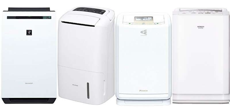 人気の除湿空気清浄機