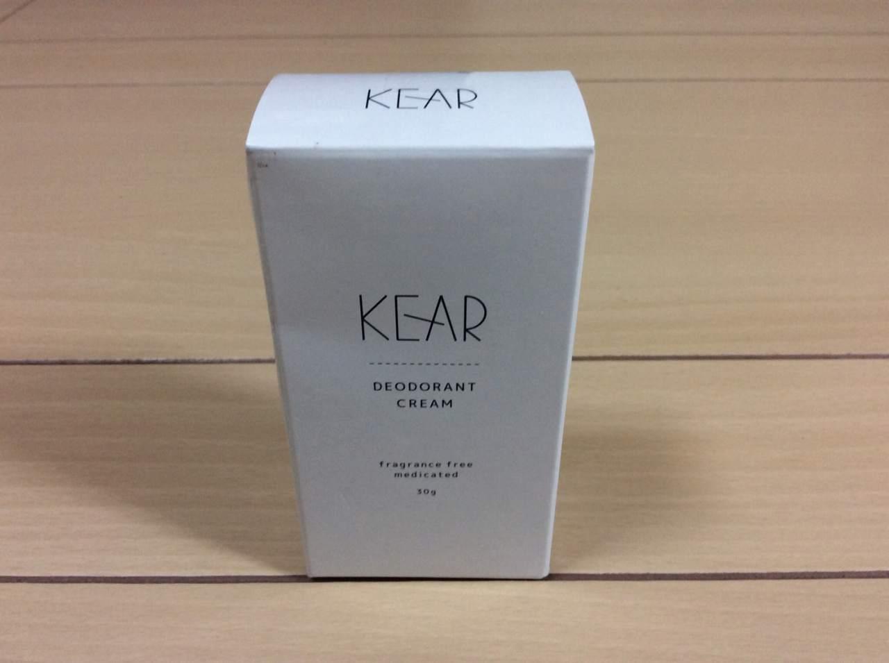 デオドラントクリーム「KEAR(ケアラ)」のパッケージ