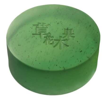 草花木果 洗顔石けん 緑茶