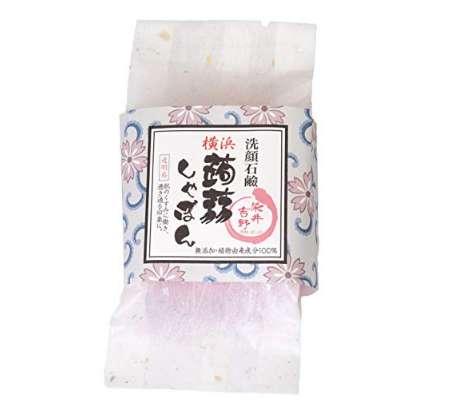 横浜 蒟蒻しゃぼん ぷるぷる 洗顔石鹸 石鹸 保湿 泡立ちソープ