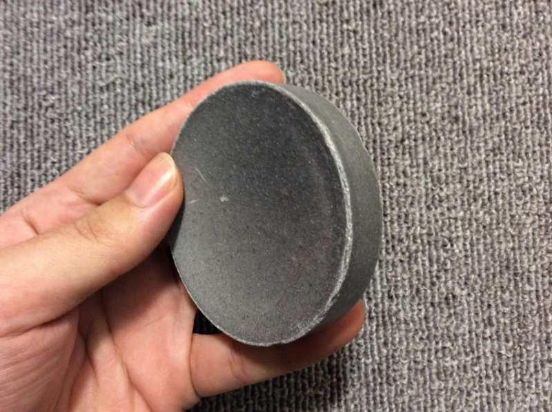 ジュゲン竹塩石鹸の分厚さの確認
