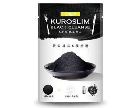 幸せラボ 炭ダイエット サプリ KUROSLIM チャコール サプリメント 6種の純炭