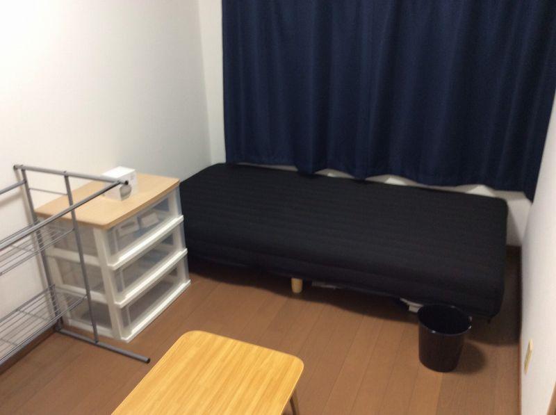 京都上桂シェアハウス コモンホーム1号館の101号室のベッド