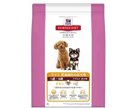 ヒルズのサイエンス・ダイエット ドッグフード ライト 肥満傾向の成犬用 体重管理 チキン 小型犬用