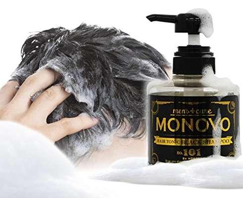 MONOVOヘアトニックブラックシャンプーの泡立ち