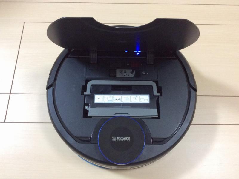 エコバックスロボット掃除機「DEEBOT OZMO 930(ディーボット オズモ 930)」のカバーを開けた状態