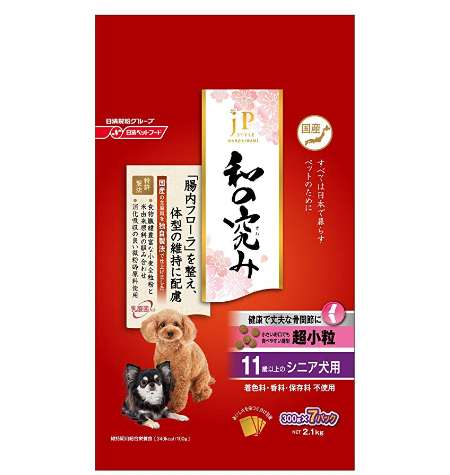 ジェーピースタイル ドッグフード 和の究み 超小粒 11歳以上 シニア犬