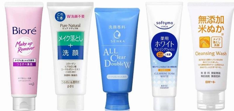 人気のクレンジング(メイク落とし)洗顔フォーム