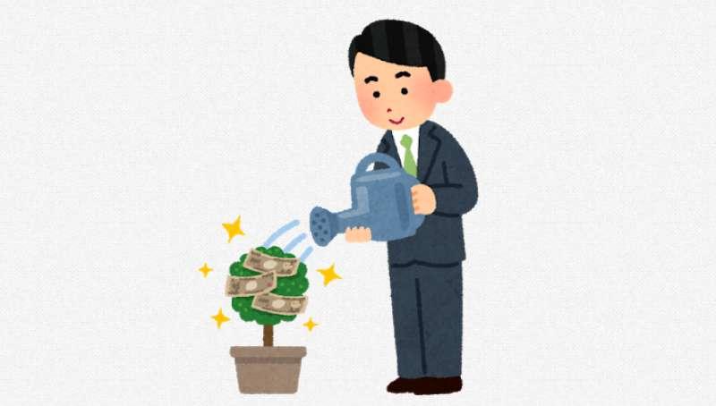 株や事業へ投資をして金のなる木を手に入れようとしている投資家
