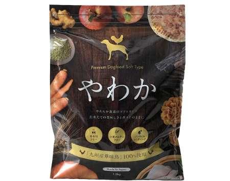 華ちゃん犬猫すこやか本舗 国産ソフトドライドッグフード やわか プレミアム 全犬種・全年齢 総合栄養食基準