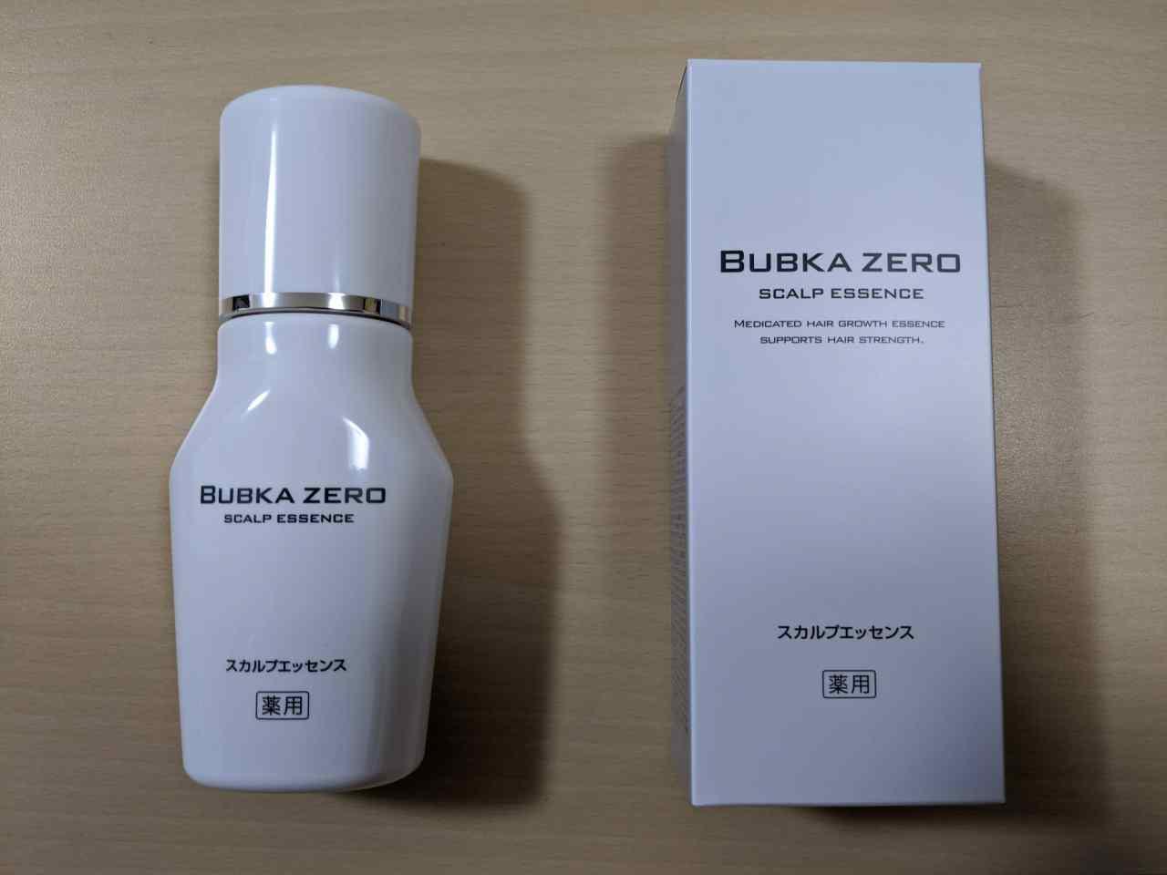 育毛剤「BUBKA ZERO(ブブカ ゼロ)」のパッケージ