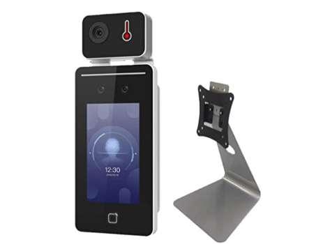 アイリスオーヤマ サーマルカメラ AI 小型 顔認証型 非接触式検知器 温度計 カウンタースタンドセット IRC-F341SG-C